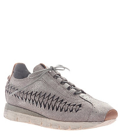 OTBT Nebula Woven Leather Wedge Sneakers