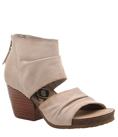 OTBT Patchouli Perforated Leather Block Heel Sandals