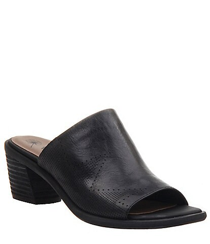 OTBT Southwest Leather Block Heel Mules