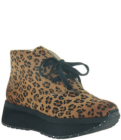 OTBT Wander Leopard Print Chukka Ankle Booties