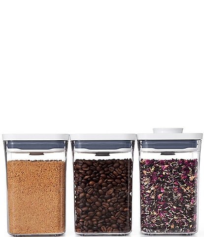 OXO 3-Piece Small Square Short POP Container Set
