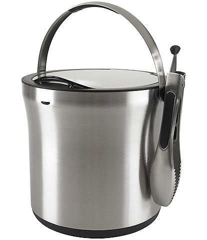 OXO Stainless Steel Ice Bucket & Tongs Set