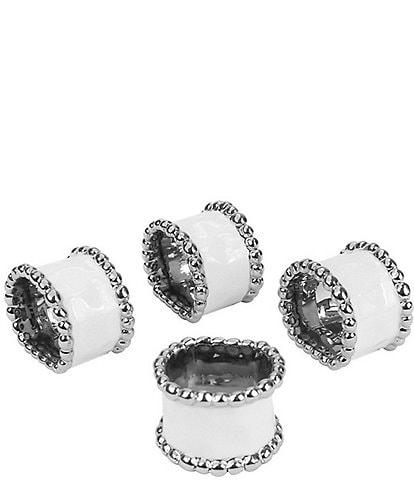 Pampa Bay Salerno Porcelain Napkin Rings, Set of 4