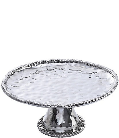 Pampa Bay Verona Porcelain Silver Round Cake Plate