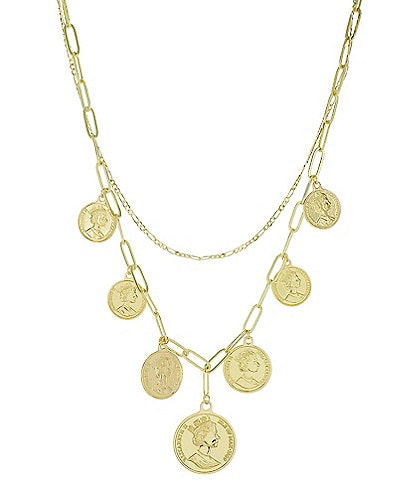 Panacea Gold Coin Charm Necklace
