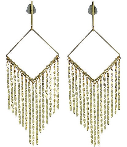 Panacea Gold Diamond Fringe Earrings