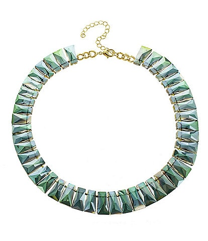 Panacea Green Crystal Statement Necklace
