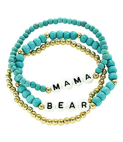 Panacea Mama Bear Stretch Bracelet Set