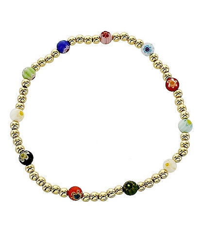 Panacea Millefiori Beaded Stretch Bracelet