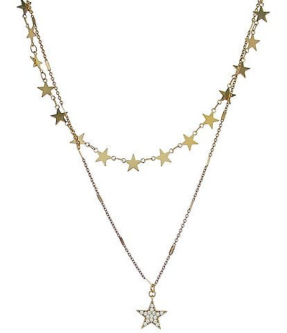 Panacea Pave Star Layered Necklace
