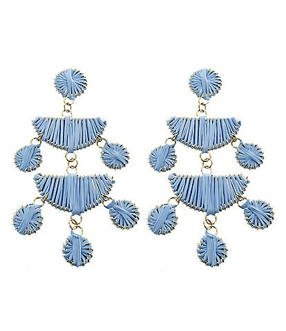 Panacea Periwinkle Geo Chandelier Statement Earrings