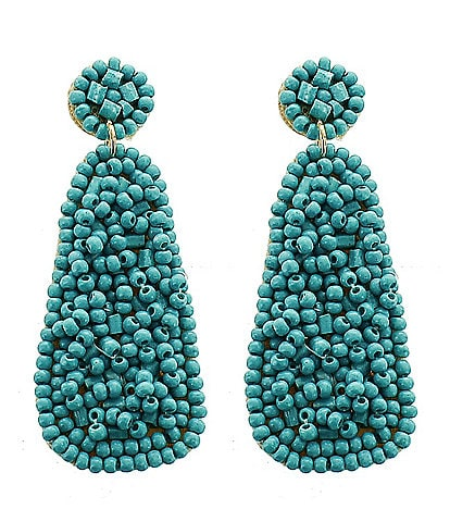 Panacea Seed Bead Drop Statement Earrings