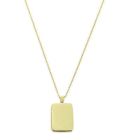Panacea Smooth Gold Locket Necklace