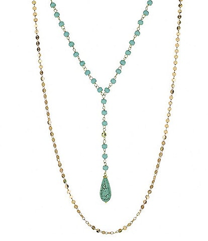 Panacea Turquoise Pre Layered Y Necklace