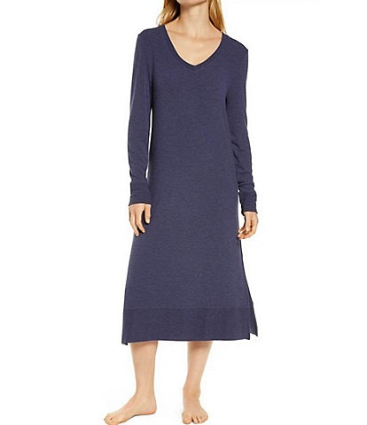 Papinelle Feather Soft Solid Knit Long Sleeve V-Neck Nightie