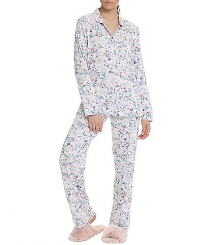 Papinelle Kate Floral Print Long Sleeve Button Front Relaxed Modal Pajama Set