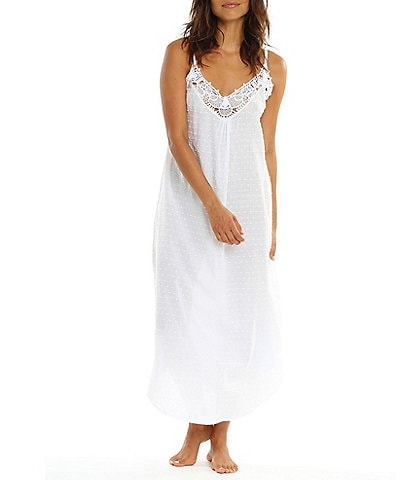 Papinelle Sleeveless Swiss Dot Woven Long Gown