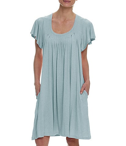 Papinelle Solid Modal Flutter-Sleeve Nightgown