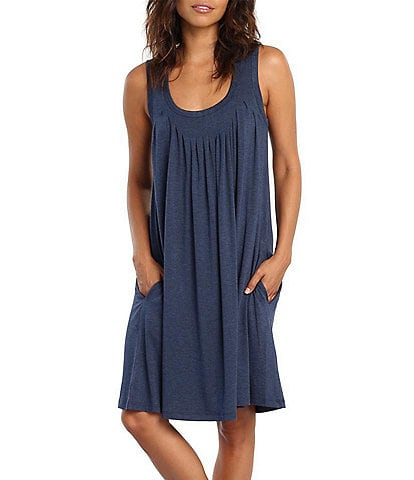 Papinelle Solid Modal Pleat Front Nightgown