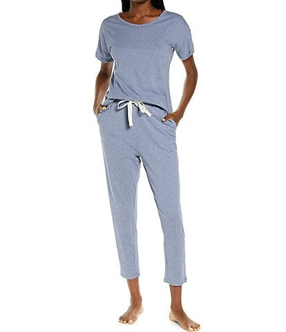 Papinelle Solid Organic Cotton Knit Tee & Jogger Coordinating Pajama Set
