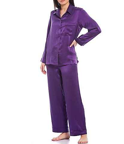 Papinelle Solid Silk Classic Pajama Set