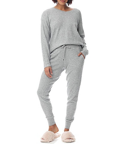Papinelle Waffle Textured Long Sleeve Knit Lounge Set