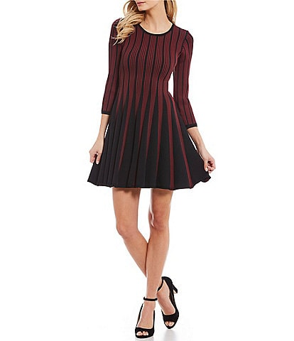 Paris Hues Long Sleeve Fit and Flare Dress