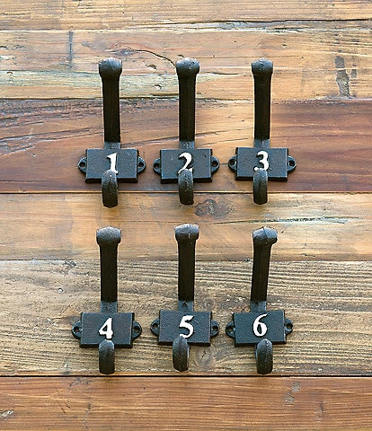 Park Hill Numerical Wall Hooks 1-6