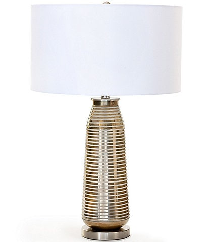 Park Hill Urban Farmhouse Collection Delany Grinded Glass Lamp