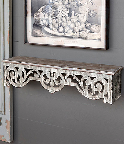 Park Hill Vintage Farmhouse Collection Filigree Wall Shelf