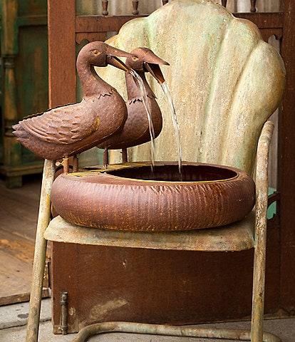 Park Hill Vintage Farmhouse Collection Folk Art Duck Fountain