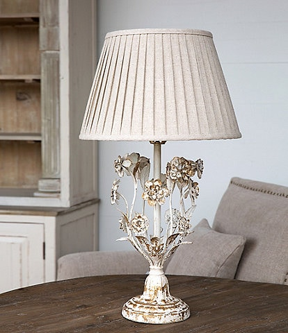 Park Hill Vintage Farmhouse Collection Metal Flower Lamp