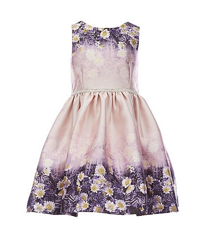 Pastourelle by Pippa & Julie Little Girls 2T-6X Floral-Border Fit-And-Flare Dress