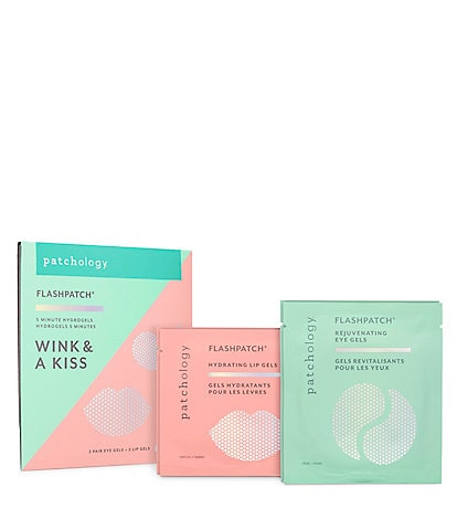 Patchology FlashPatch® Wink & A Kiss Lip & Eye 5-Minute Hydrogel Set