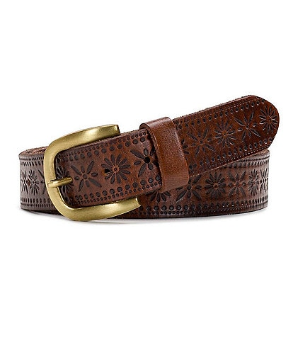 Patricia Nash 1.25#double; Marcilly Floral Embossed Belt