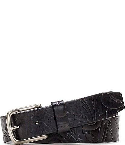 Patricia Nash 1.25#double; Pelosa Embossed Leather Belt