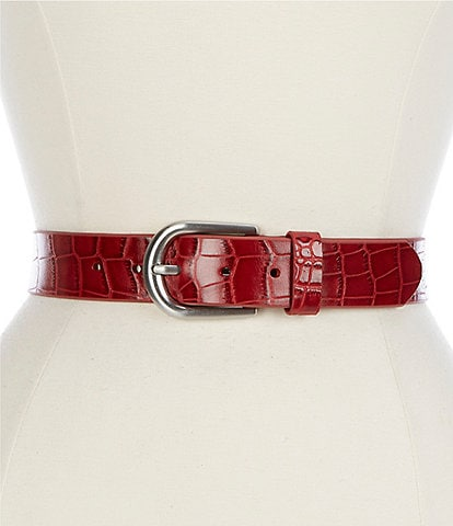 Patricia Nash 1.25#double; Vietri Distressed Croco Belt