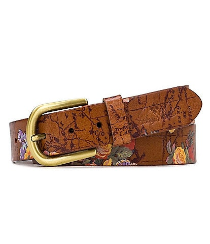 Patricia Nash 1.25#double; Vietri Floral Signature Map Print Belt