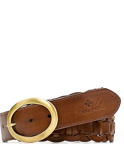 Patricia Nash 1.5#double; Varriano Chain link Leather Belt