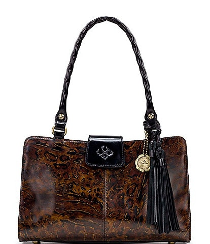 Patricia Nash Abstract Animal Print Collection Reinzo Satchel Bag