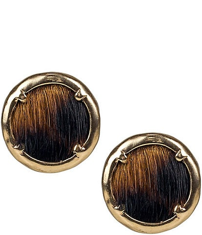 Patricia Nash Alice Button Stud Earrings