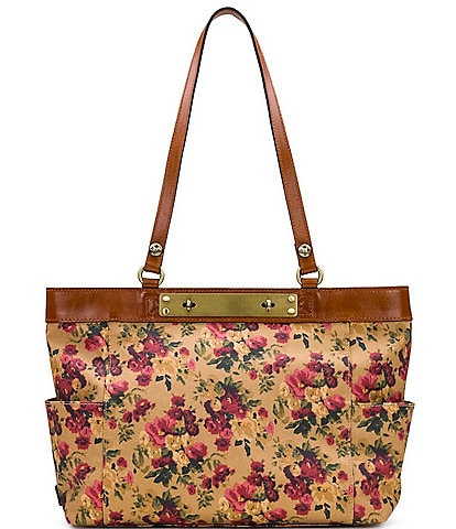 Patricia Nash Antique Rose Collection Ria Leather Tote Bag