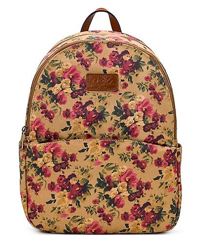 Patricia Nash Antique Rose Collection Turi Canvas Backpack