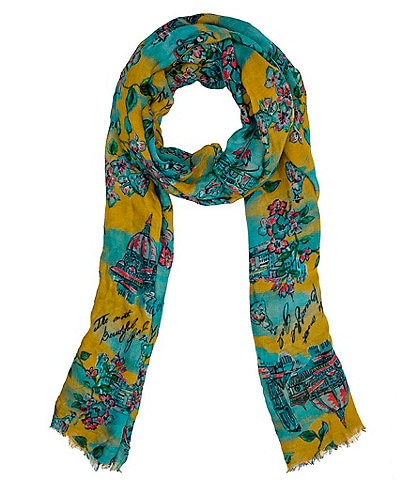 Patricia Nash Beautiful Girl Collection Printed Scarf