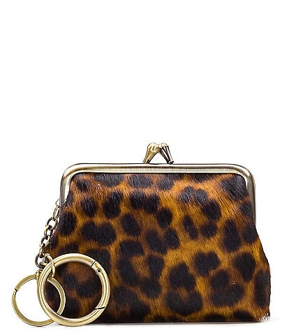 Patricia Nash Borse Leopard Leather Coin Purse