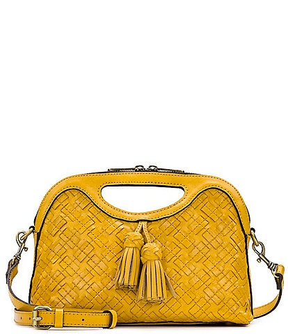 Patricia Nash Braided and Stitched Collection Sora Cut Out Satchel Bag