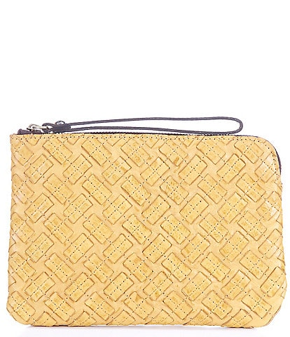 Patricia Nash Braided Stitching Collection Cassini Wristlet