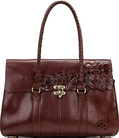 Patricia Nash British Tanned Collection Vienna Satchel Bag
