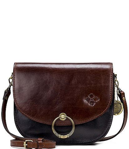 Patricia Nash British Vegetable Tanned Colorblock Collection Bettina Saddle Bag