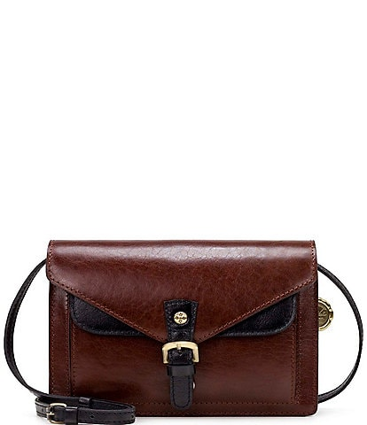 Patricia Nash British Vegetable Tanned Colorblock Collection Cassano Crossbody Bag